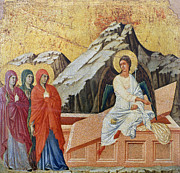 Virgin Mary Paintings - Duccio - Three Marys by Granger