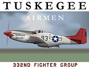 Bomber Escort Posters - Duchess Arlene of the Tuskegee Airmen Poster by Matthew Webb