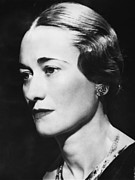 Eht10 Prints - Duchess Of Windsor Wallis Simpson Print by Everett