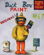 Duck Boy Print by Leah Saulnier The Painting Maniac