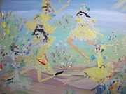 Duck Dance Print by Judith Desrosiers