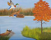 Ruth Housley Metal Prints - Duck Season SOLD Metal Print by Ruth  Housley