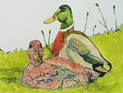 Swift Painting Originals - Ducks in Love by Rand Swift