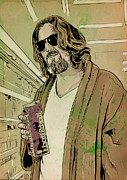 Giuseppe Cristiano Drawings Framed Prints - Dude Lebowski Framed Print by Giuseppe Cristiano