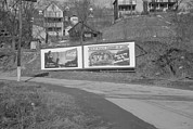 West Virginia History Framed Prints - Duel Billboard Near Kingwood West Framed Print by Everett