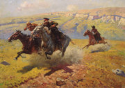 Russia Paintings - Duel by Franz Roubaud