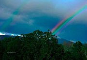 Gatlinburg Prints - Dueling Rainbows Print by DigiArt Diaries by Vicky Browning
