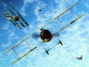 World War One Digital Art Originals - Duelling Kites by Garry Staranchuk