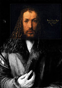 Self-portrait Mixed Media - Duerer by Stefan Kuhn
