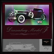 Kirkland Prints - Duesenberg Model J LAYOUT Print by Curt Johnson