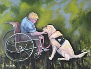 Yellow Lab Framed Prints - Duet Framed Print by Susan A Becker