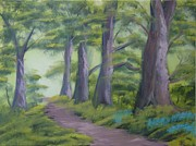 Stately Home Paintings - Duff House Path by Charles Morrison