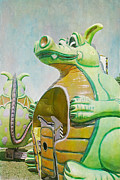 Carnival Ride Posters - Duffy the Dragon Poster by Cindi Ressler