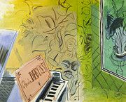 Contemporary Art Photos - Dufy: Claude Debussy, 1952 by Granger
