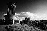 View Over Framed Prints - Dugald Stewart Monument Calton Hill With View Of Edinburgh Skyline Scotland Uk United Kingdom Framed Print by Joe Fox