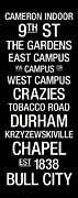 Campus Posters - Duke College Town Wall Art Poster by Replay Photos