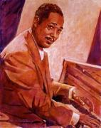 Music Legend Metal Prints - Duke Ellington Metal Print by David Lloyd Glover