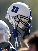 Sports Art Posters - Duke Football Helmet Poster by Duke University