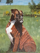 Brindle Painting Prints - Duke Print by Stella Sherman