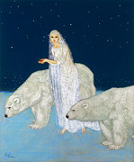 Maiden Acrylic Prints - Dulac: The Ice Maiden, 1915 Acrylic Print by Granger