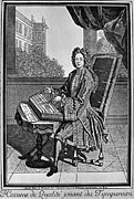Coat Framed Prints - DULCIMER, 17th CENTURY Framed Print by Granger