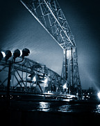 Lake Superior Photos - Duluth Aerial Lift Bridge Under Driving Rain by Shutter Happens Photography