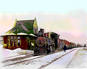 By Charles Shoup Mixed Media - Duluth and Iron Range Railroad by Charles Shoup