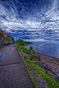 Duluth Art - Duluth Lake Superior Trail by Linda Tiepelman