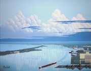 Great Lakes Ship Paintings - Duluth Superior Harbor by Dan Shefchik