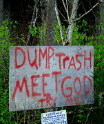 Hand Made Art - Dump Trash - Meet God by Peter Mooyman