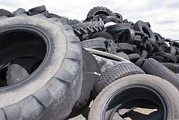 Tyre Metal Prints - Dumped Tyres Metal Print by Mark Williamson