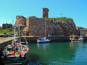 Trawler Metal Prints - Dunbar Castle and Harbour Metal Print by Yvonne Johnstone