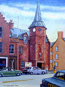 Bluesky Painting Prints - Dunbar High Street Print by James Richardson