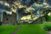 Ireland Digital Art - Dundrum Castle Rays by Kim Shatwell-Irishphotographer
