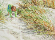Sand Dunes Paintings - Dune Child by Candace D Fenander