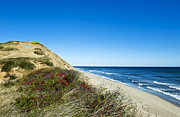 National Seashore Photos - Dune Cliffs and Beach by John Greim