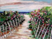 Beach Fence Pastels Posters - Dune Fence Poster by John  Williams