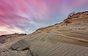 Sand Dune Framed Prints - Dune Landscape After Sunset Framed Print by Rob Kints