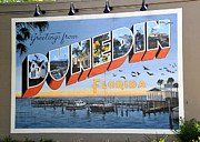 Historic Florida Framed Prints - Dunedin Florida Post Card Framed Print by David Lee Thompson