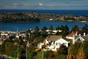 Terry Perham Photos - Dunedin NZ View To Andy Bay by Terry Perham