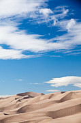 Sand Dunes National Park Framed Prints - Dunes and Sky Framed Print by Adam Pender