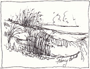 Dunes Drawings Prints - Dunes  Print by Michele Hollister - for Nancy Asbell