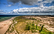 Dunes Prints - Dunes of Ludington Print by Bradley  Blackburn