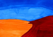 Southwestern Art Painting Originals - Dunes original painting by Sol Luckman