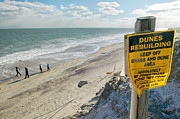Nauset Beach Posters - Dunes Rebuilding Keep off Grass and Dune Area Cape Cod Poster by Matt Suess