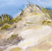 Sand Dunes Painting Framed Prints - Dunes Tufts Framed Print by Connie Ehindero