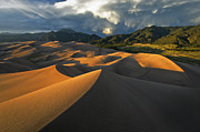 Colorado Weather Posters - Dunescape Monsoon Poster by Joseph Rossbach