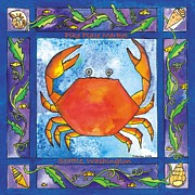 Corwin Paintings - Dungeness Crab by Pamela  Corwin