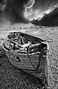 Mono Framed Prints - Dungeness Decay Framed Print by Meirion Matthias