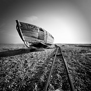 Ship Photos - Dungeness Ship Wreck II by Nina Papiorek